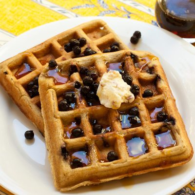 Blueberry Oat Waffles Vegan Glutenfree