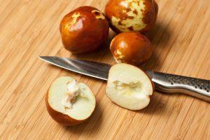Jujubes fruits Cut in half