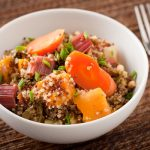 Roasted quinoa and vegetable casserole