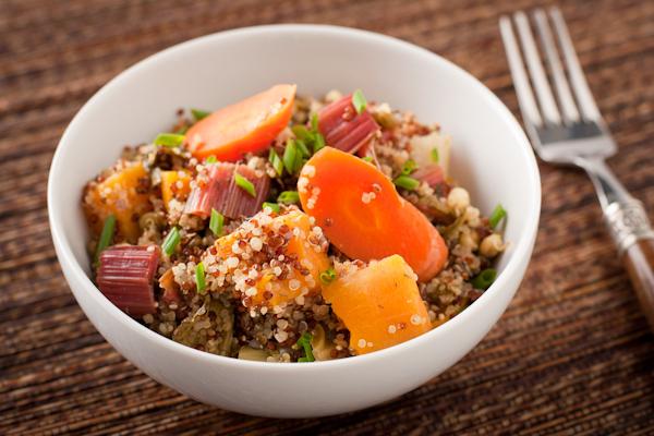 Roasted quinoa and vegetable casserole
