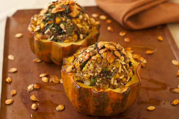 Stuffed Acorn Squash with quinoa filling