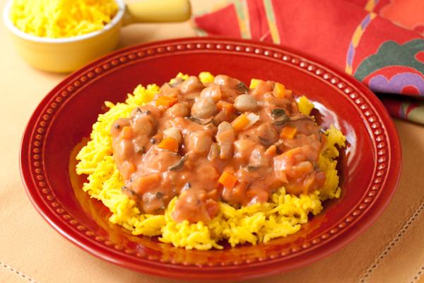 Chickpeas Indian Spices Saffron Rice