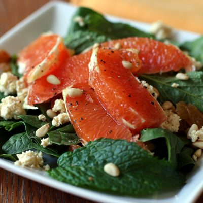 Spinach Feta Orange Salad
