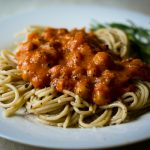 Pasta with chickpea-vodka sauce