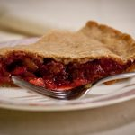 Strawberry Rhubarb Cherry Pie glutenfree sugarfree