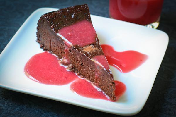 Flourless Chocolate Poppyseed Cake glutenfree vegan