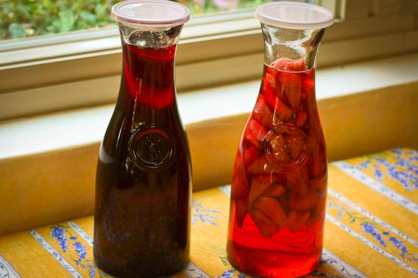 Home-made Strawberry Vodka Blueberry Vodka