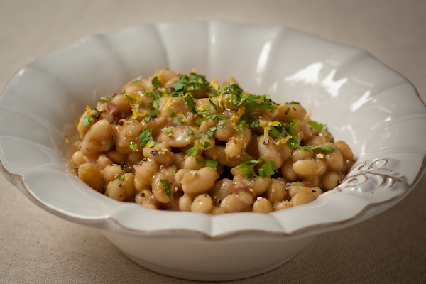 Flageolet Beans with Gremolata
