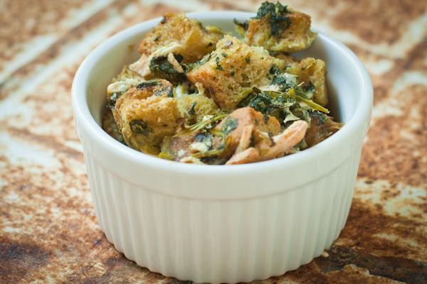 Vegan Cheesy Spinach Breakfast Casserole Strata
