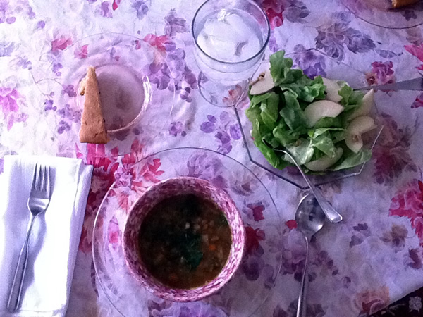 October Unprocessed lunch