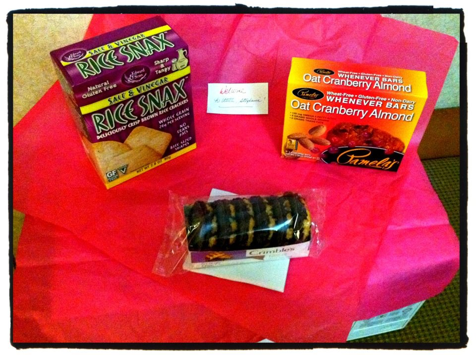 gluten-free treats in my hotel room