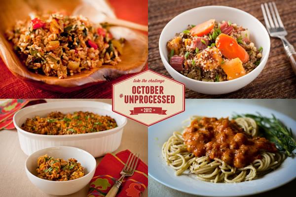 October Unprocessed Dinner Week from Recipe Renovator