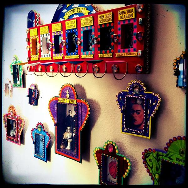 Frieda Kahlo nichos Dia de los Muertos
