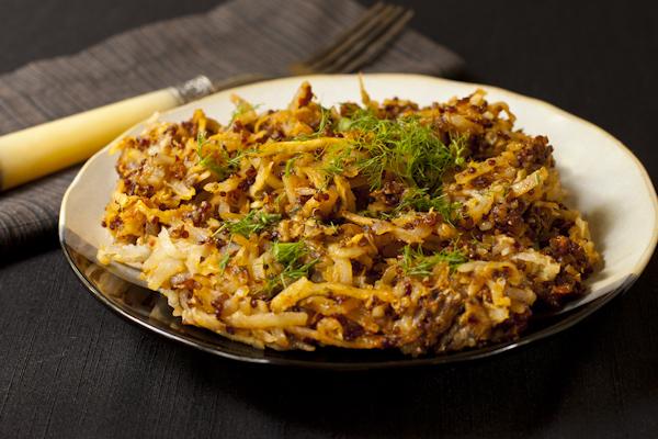 Vegan Fennel Potato Chorizo Hash