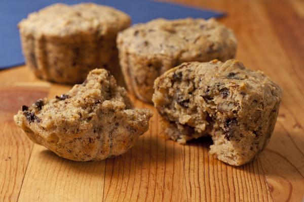 Banana-walnut-chocolate-chunk muffins