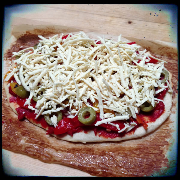 Gluten-free Pizza before Baking
