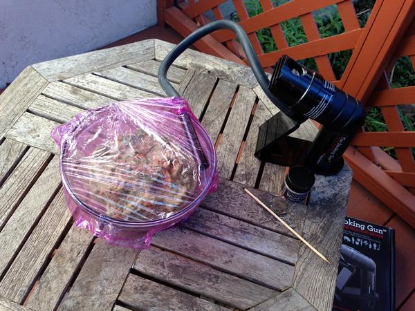 Smoked guacamole with The Smoking Gun from Recipe Renovator
