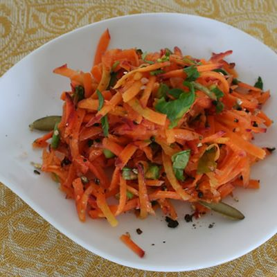 Raw Moroccan Carrot Salad