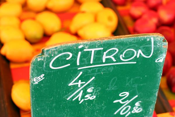 Lemons in a Provence farmer's market