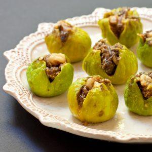 Exotic stuffed figs with walnuts, cardamom, and pomegranate molasses   Recipe Renovator
