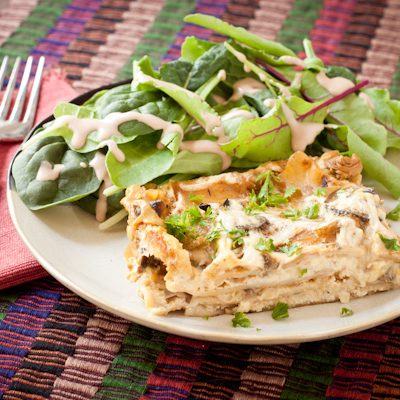 Stroganoff Lasagna | Gluten-free & vegan from Recipe Renovator