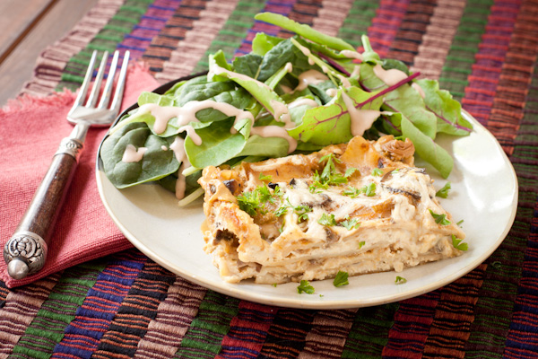 Stroganoff Lasagne | Gluten-free & vegan from Recipe Renovator