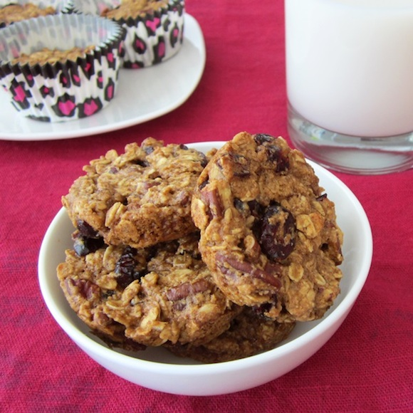 Healthy oatmeal breakfast cookie from Go Dairy Free   Month O' Cookies on Recipe Renovator