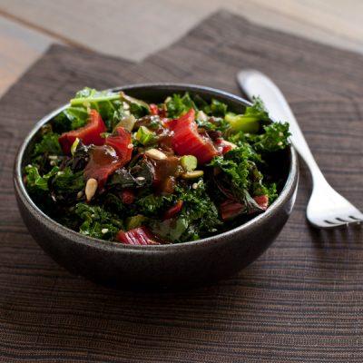 Spicy kale and Swiss chard sauté   Low-sodium, migraine friendly   Recipe Renovator