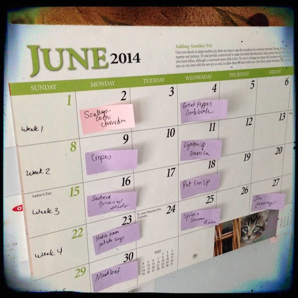 Editorial Calendar | Recipe Renovator