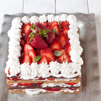 Strawberry Cream Icebox Cake from Migraine Relief Recipes | Gluten-free, dairy-free, migraine-friendly