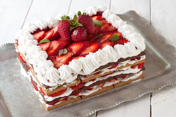 Strawberry Cream Icebox Cake from Migraine Relief Recipes   Gluten-free, dairy-free, migraine-friendly
