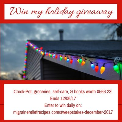 December 2017 giveaway worth $566.23, ends 12/06/17 at 11:59 PM PST