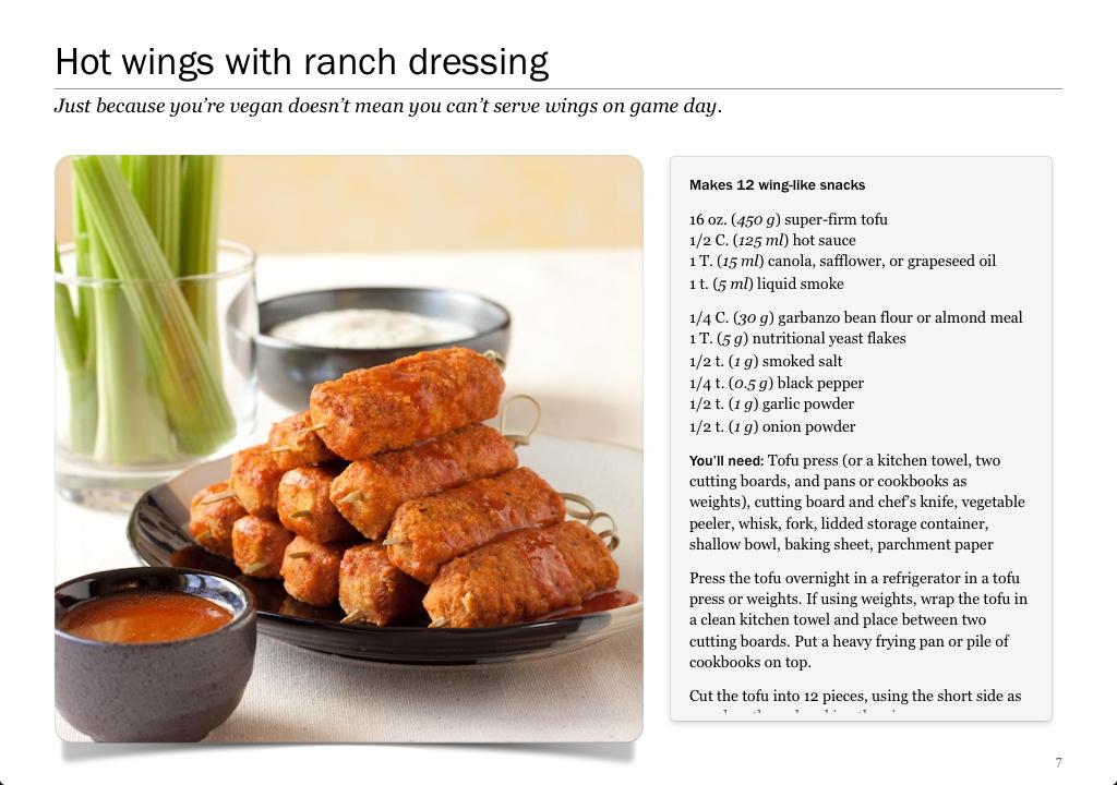 Vegan Hot Wings recipe by Stephanie Weaver