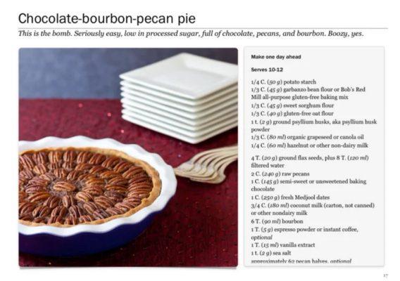 Chocolate bourbon pecan pie recipe by Stephanie Weaver